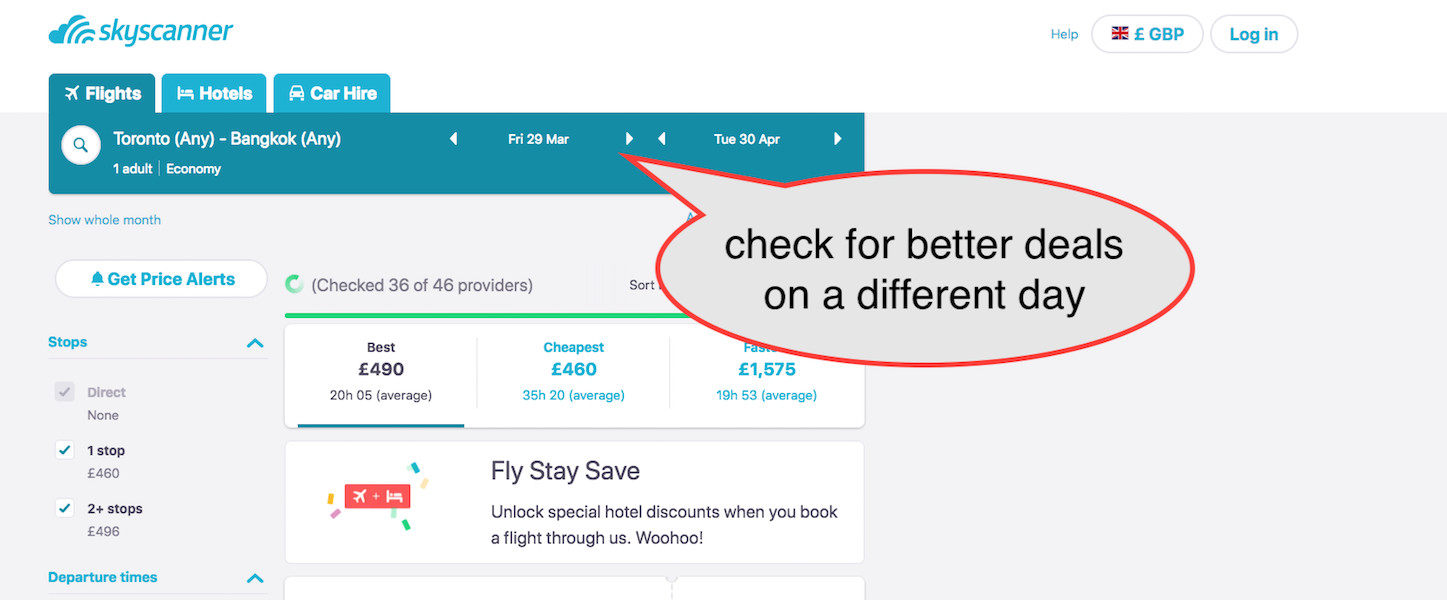 how to find cheap flights with skyscanner