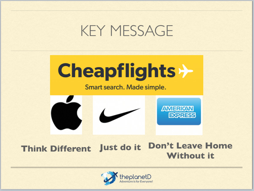 key messages for major companies
