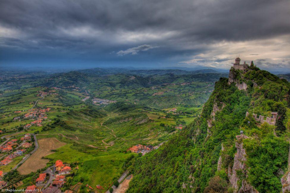Italian Countryside View from San Marino