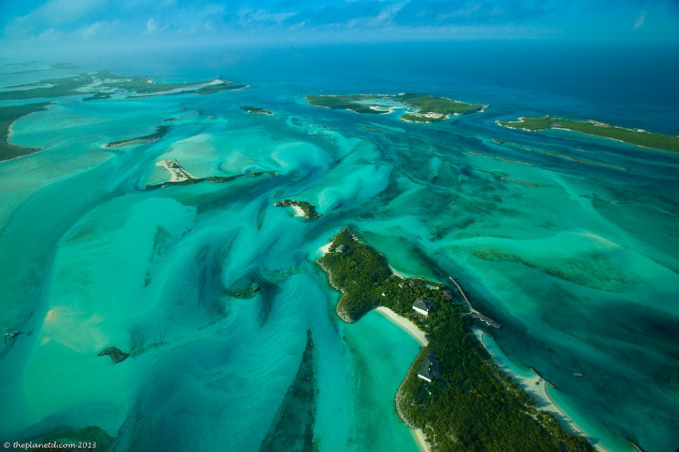 tropical island of Exuma Cays
