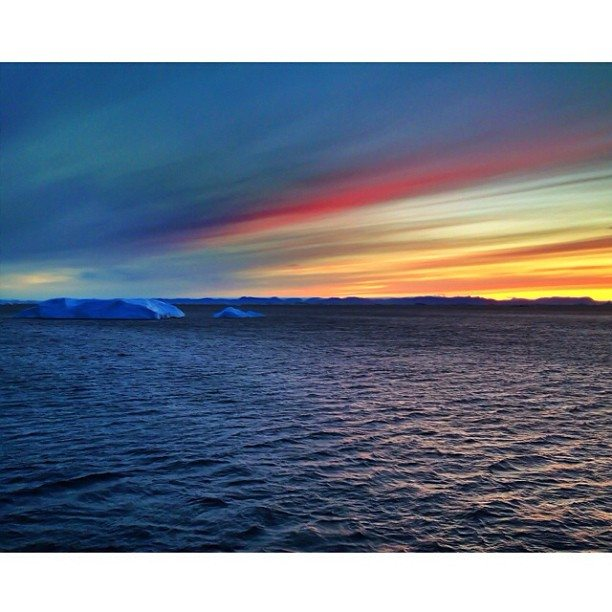 greenland sunset disko bay