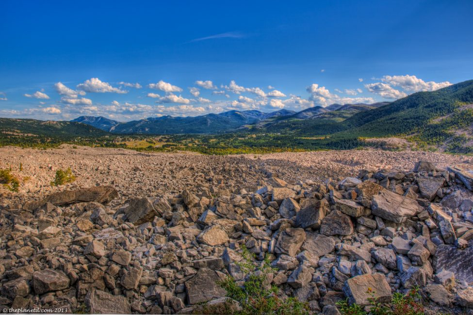 Frank Slide in Crows Nest Pass near Pincher Creek.