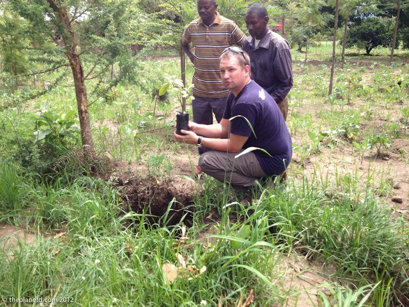 planting trees in Kenya