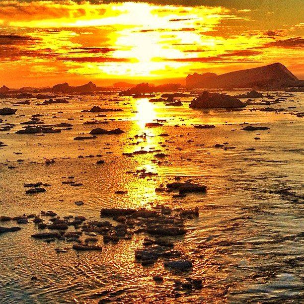 sunset greenland