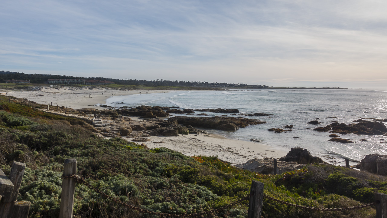 The links Golf course is near the entrance to 17 Mile Drive near Spanish Bay