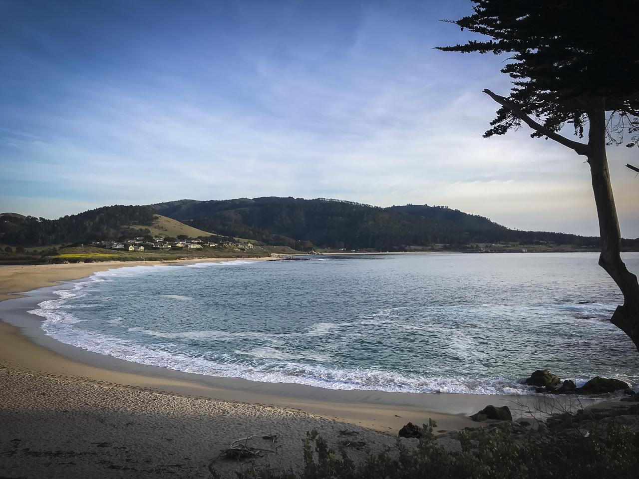 The beautiful Carmel Bay at Carmel by the Sea