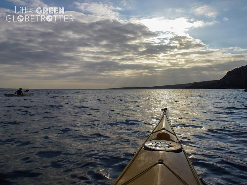Isle of man sunset from kayak