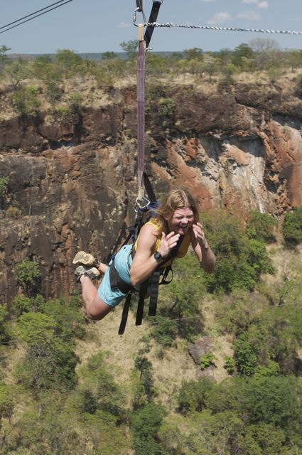 Deb Ziplining of Gorge, Zambia