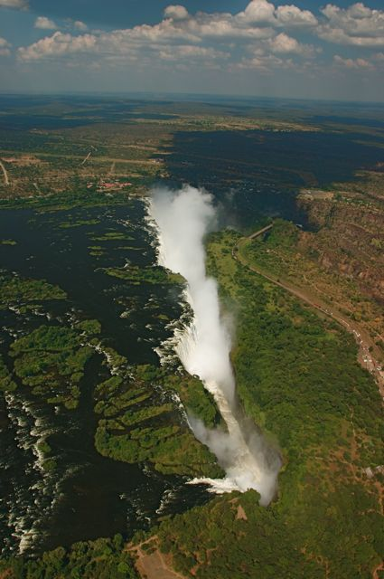 Victoria Falls seen from our Helicopter