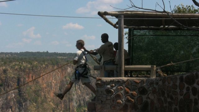 Dave at Gorge Swing, Vic Falls