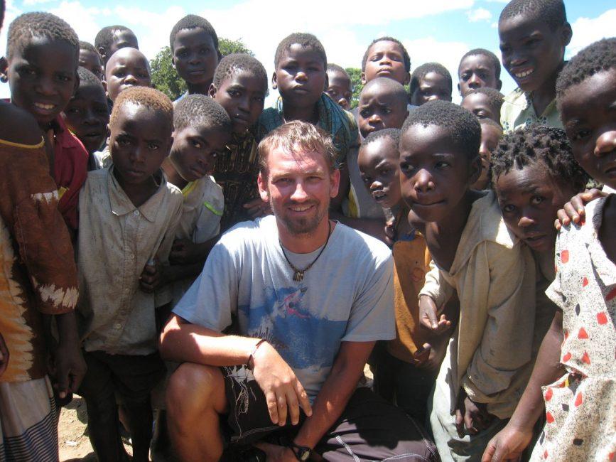 Dave with School Children