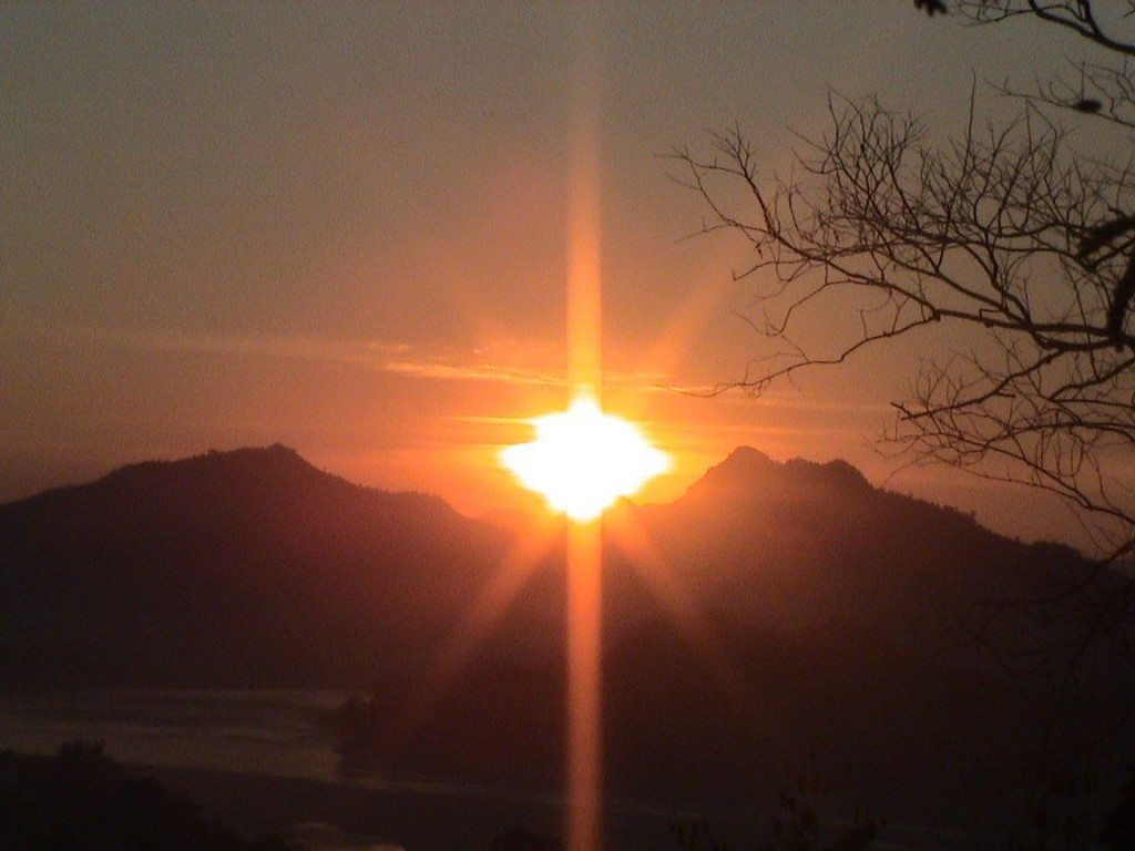 A beautiful sunset in Luang Prabang Laos