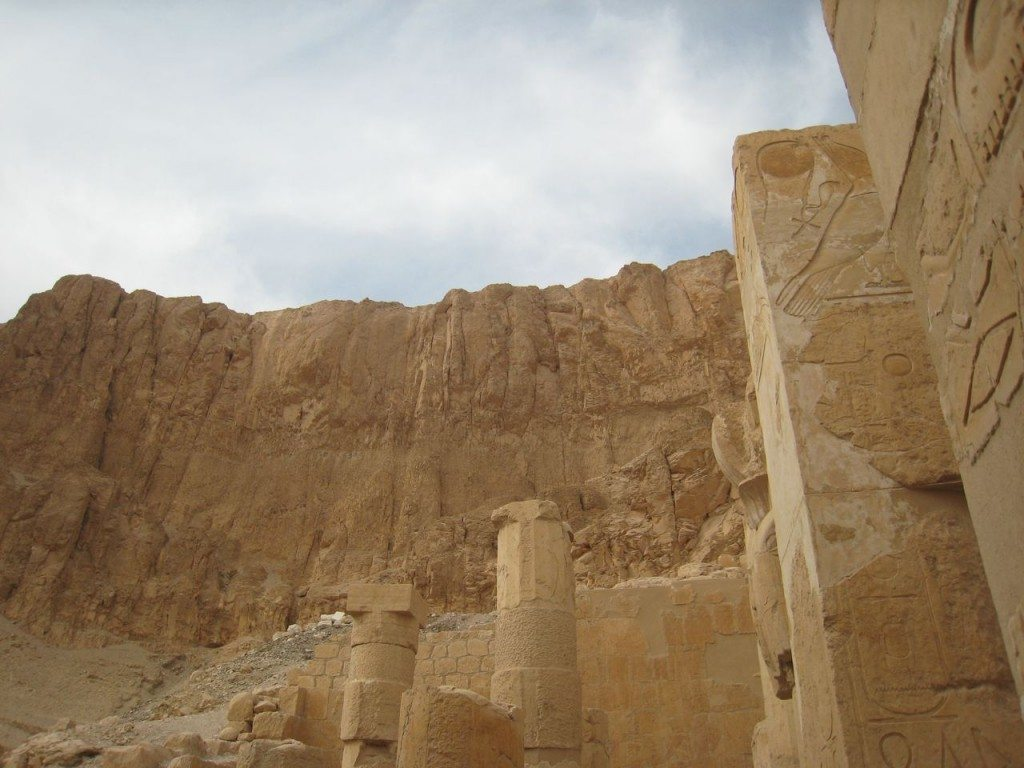 Hatshepsut temple built into a cliff
