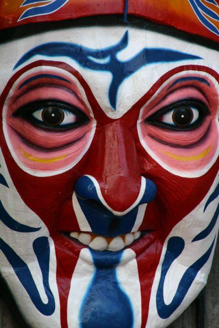 scary mask of Haw Par Villa