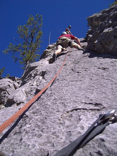 rock climbing in Canmore Alberta