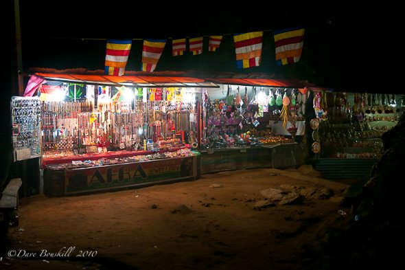 shops lead up to Adams Peak