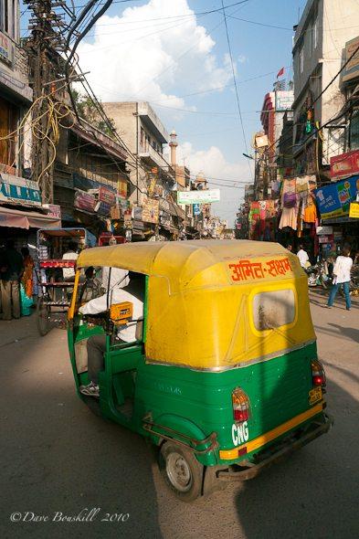 delhi india tuk tuk
