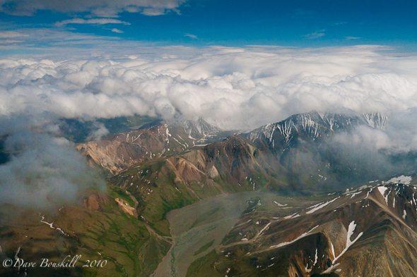Alaska-Mount McKinley--Denali-Flying-Clouds