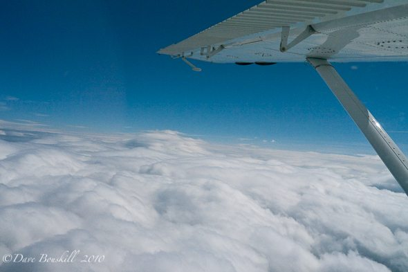 Alaska-Mount McKinley-Flying-Above the clouds