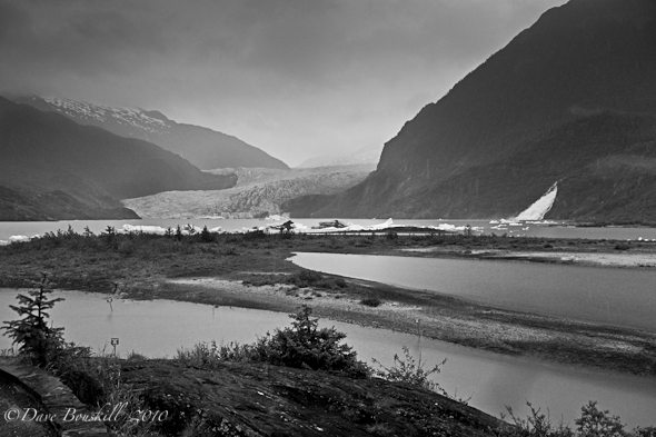 Alaska-Juneau-Mendenhall-Glacier-BW
