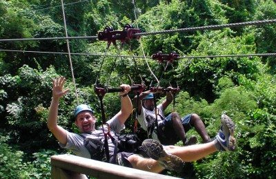 End of final zipline with Sky Safaris