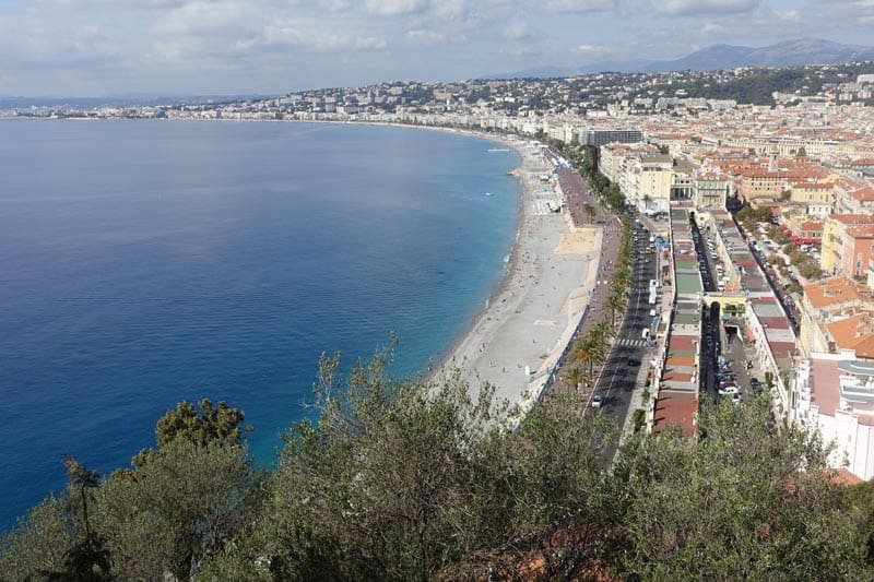 nice coastline | visiting nice france in a day