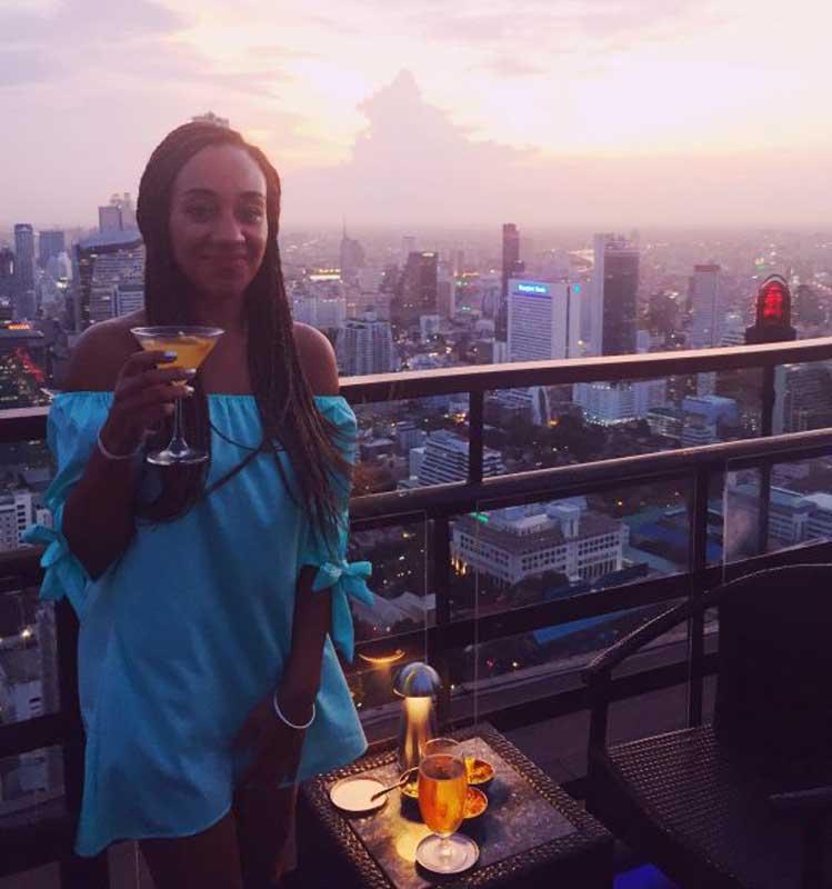 sunset cocktails in bangkok thailand