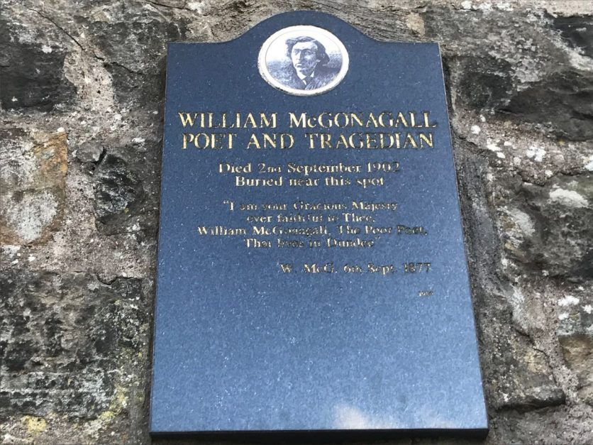 mcgonagall grave harry potter