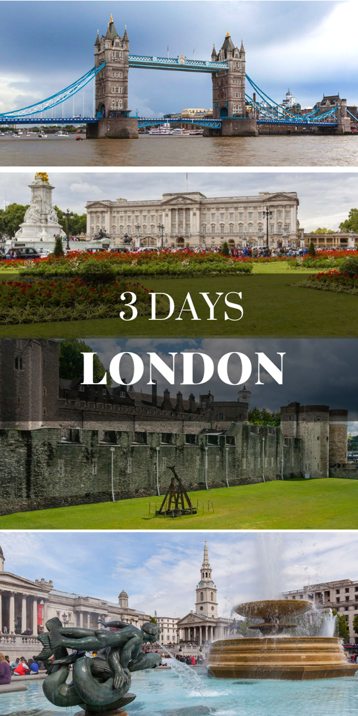 London Itinerary - Three Days in London England