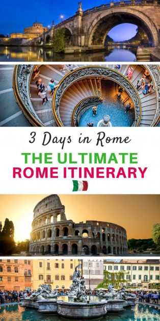 3 days in Rome - The Perfect Rome Itinerary