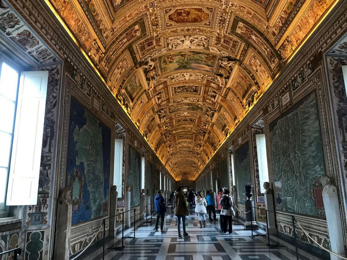 Visit The Maps Gallery on you three days in Rome itinerary