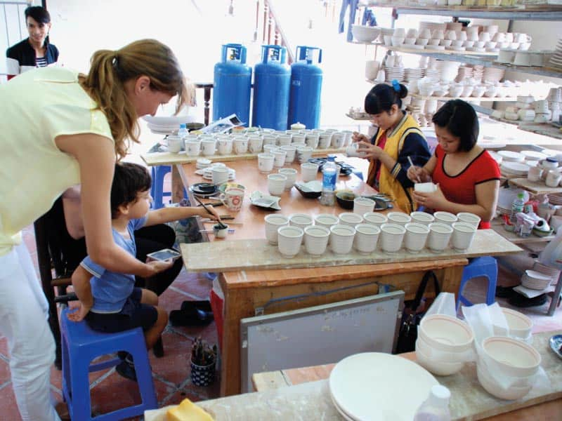 what to do in hanoi with kids pottery