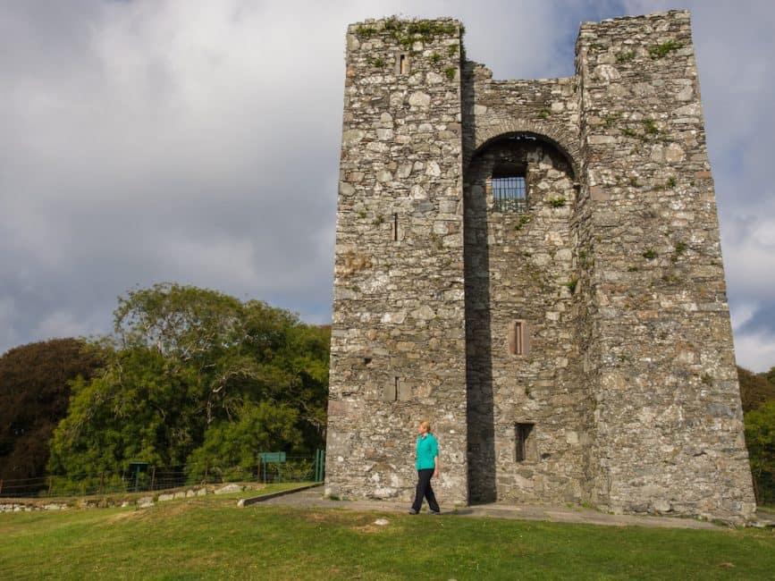 5 Deb walking abandoned castle aka The Twins