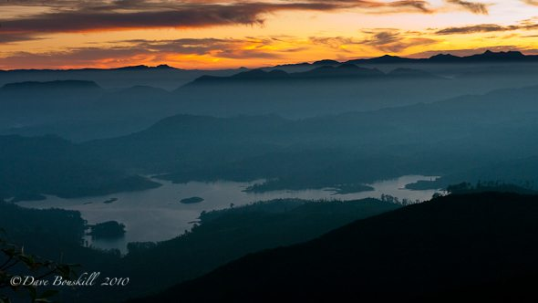 sunrise view from Adams peak
