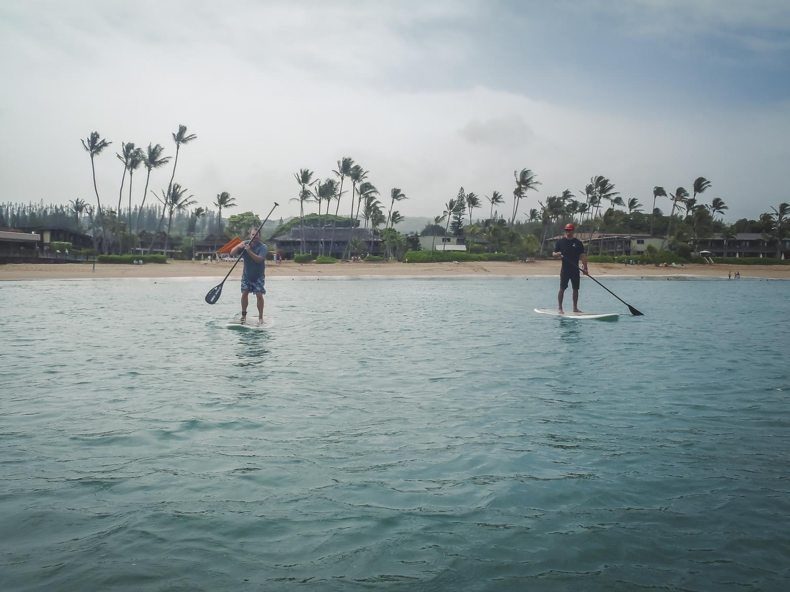 Paddleboarding at Napili Kai Maui