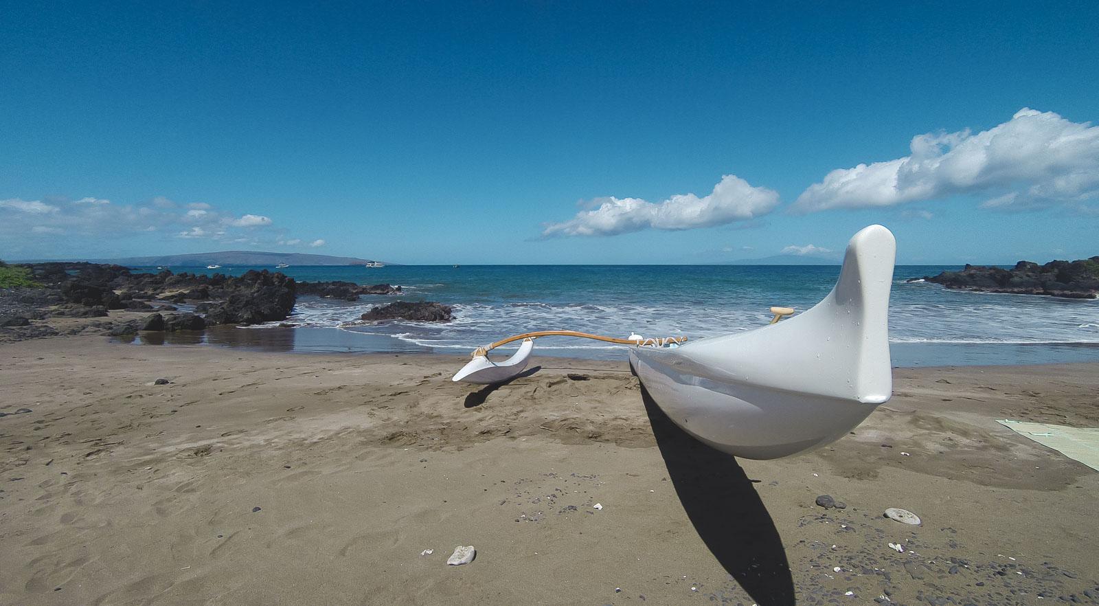 Outrigger Canoe onBeach in Maui