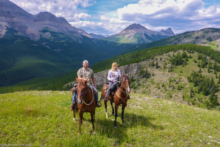 riding horses in the rocky mountains