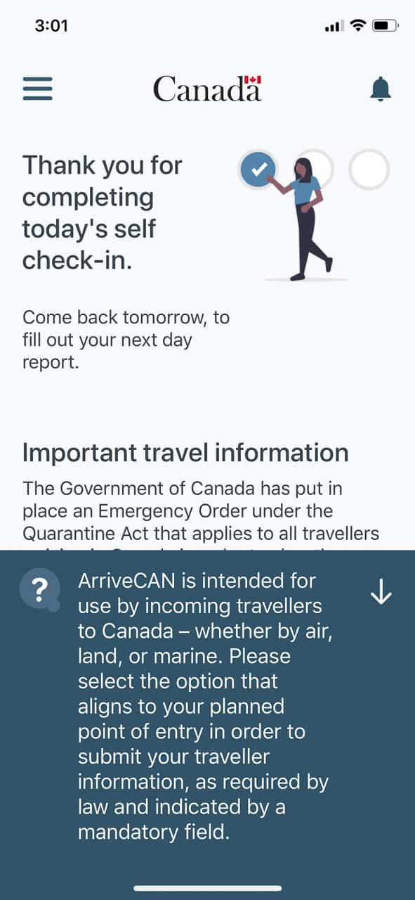 ArriveCan app for Canadians