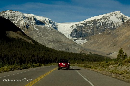 The Chevy Equinox in Action driving in Banff Alberta