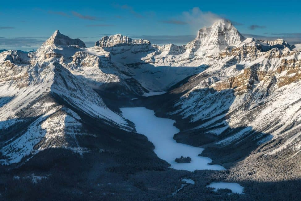 best things to do in Banff - heli-snowshoe