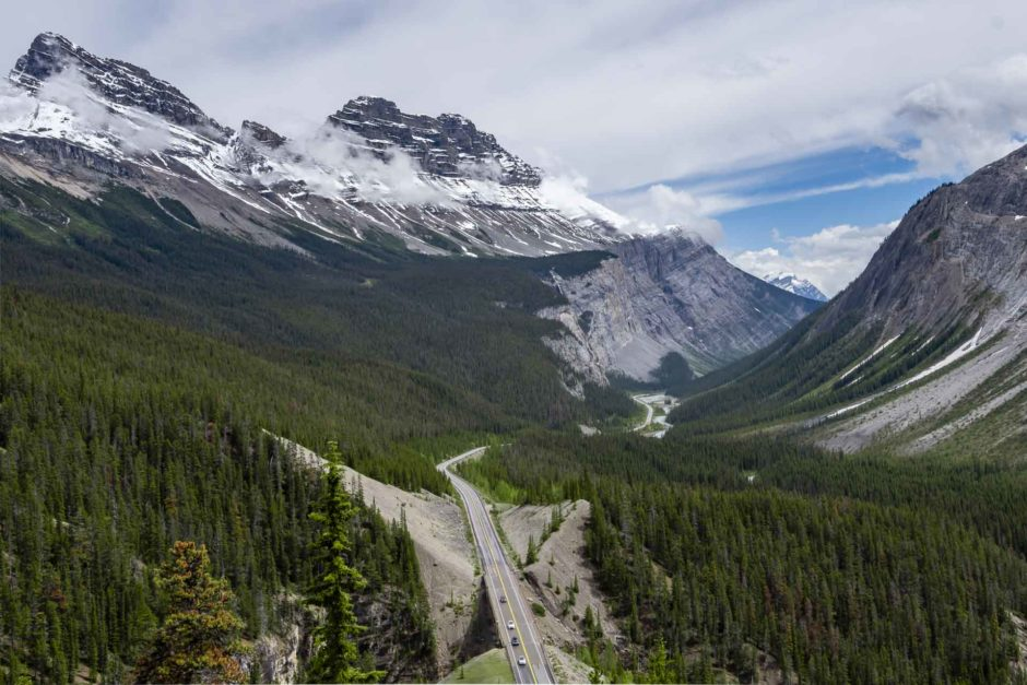 banff to jasper icefields parkway stops