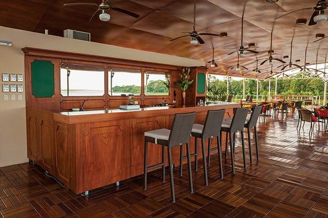 amazon river cruise | bar on boat