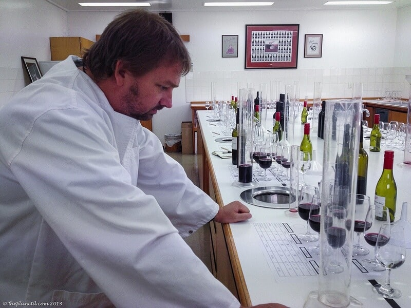 Barossa Valley Dave blending wine