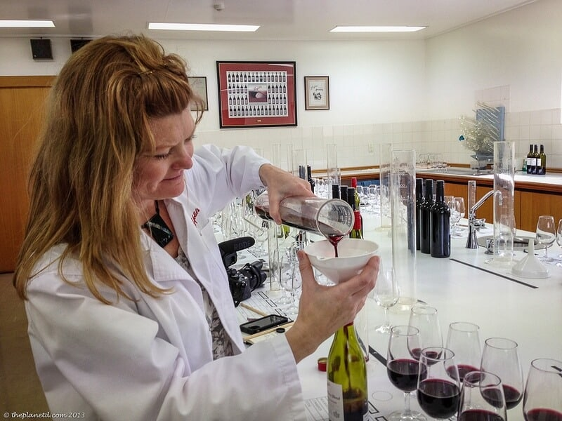 Barossa Valley Deb blending wine