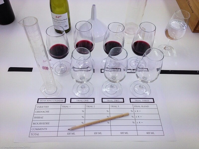 Barossa Valley Australia blending wine