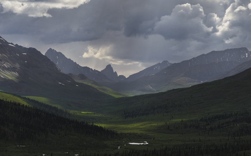 The Tombstone Mountains in the Yukon is a beautiful place to visit