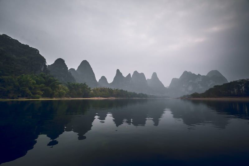 The Li river in China is a beautiful place to visit