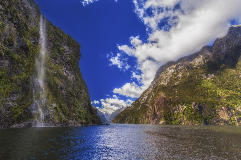 The beauty of Milford sound in New Zealand