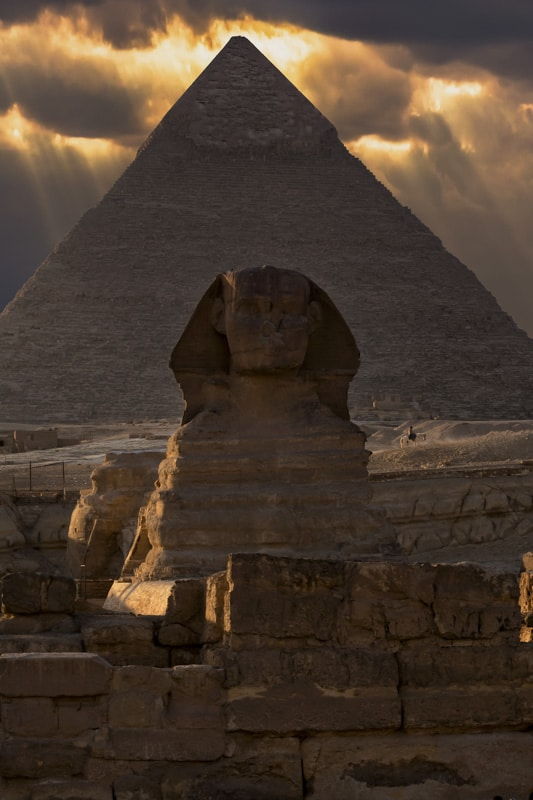The beauty of the Pyramids of Giza in Egypt