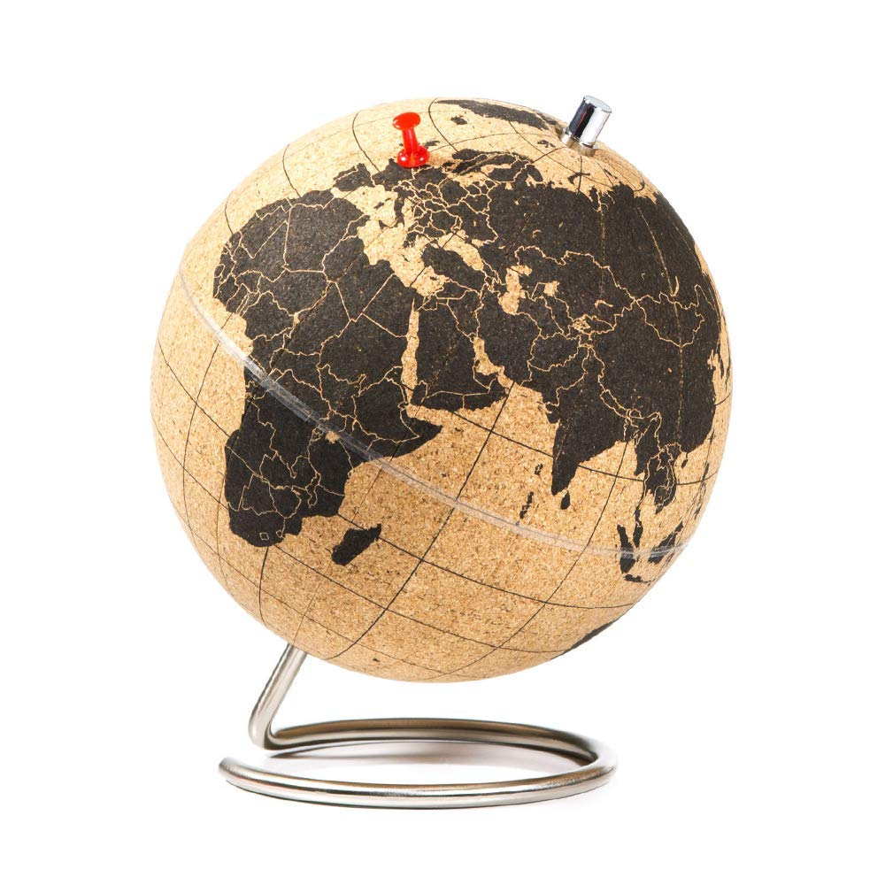 cork globe travel gift